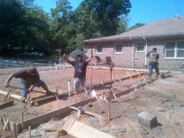 flatwork, forms for slab